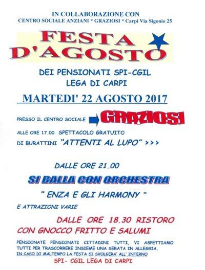 half off 0136c 916a8 FESTA D'AGOSTO CARPI