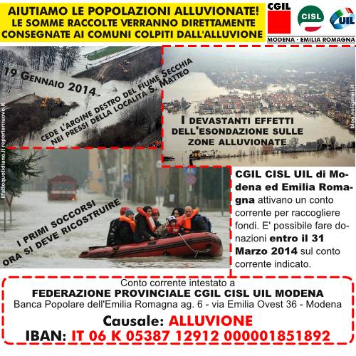 Alluvione nel modenese: 19 Gennaio 2014 cede l'argine destro del fiume Secchia