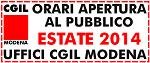 Orario estivo 2014 CGIL Modena