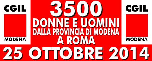25 ottobre 2014 - 3500 modenesi a Roma