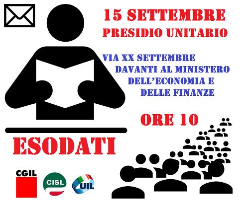 esodati: presidio unitario a Roma - 15/9/2015