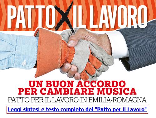 Patto per il Lavoro - Regione Emilia-Romagna