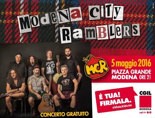 Concerto gratuito Modena City Ramblers - Piazza Grande - 5 maggio 2016