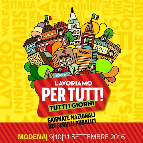 Festa nazionale FP Cgil a Modena (9, 10, 11 settembre 2016)