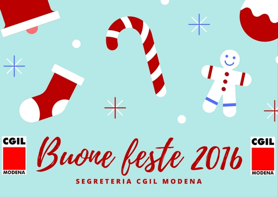 Feste natalizie 2016 - Auguri Cgil Modena