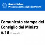 comunicato stampa del Governo su appalti e voucher (17/3/2017)