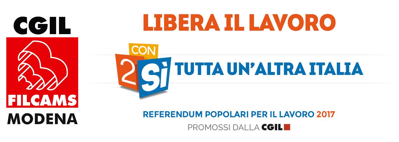 Filcams Modena - Referendum Lavoro con2sì