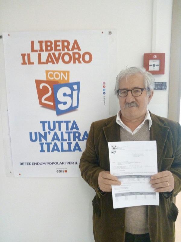Giuseppe Addante con la pensione