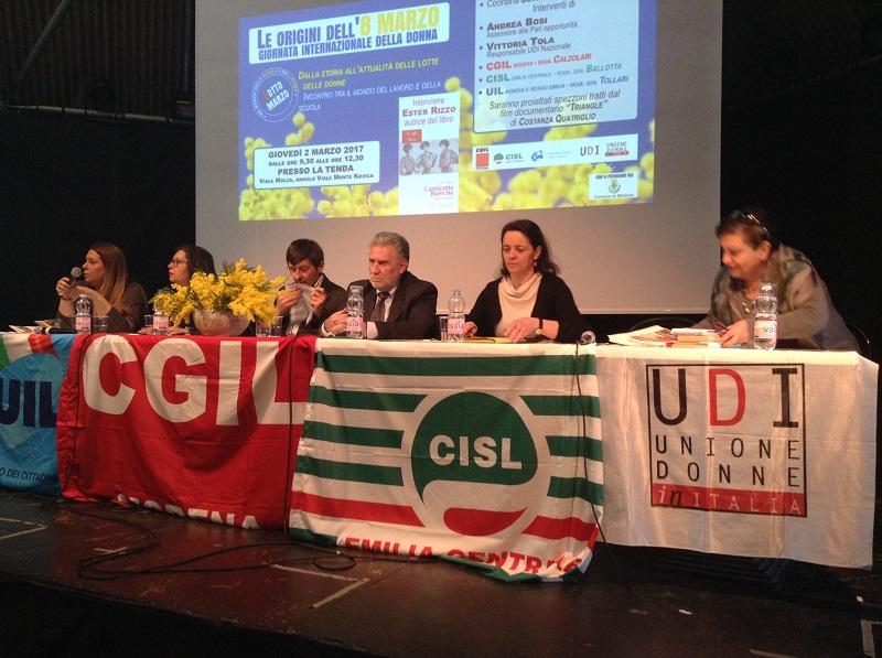 iniziativa 8 marzo Cgil Cisl Uil + Udi Modena