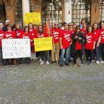 lavoratrici Edis e Slc/Cgil ricevute da sindaco Muzzarelli e assessore Bosi, 31.3.17