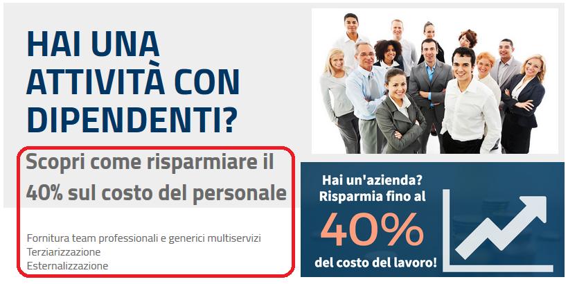 promozione on line riduzioni costo lavoro