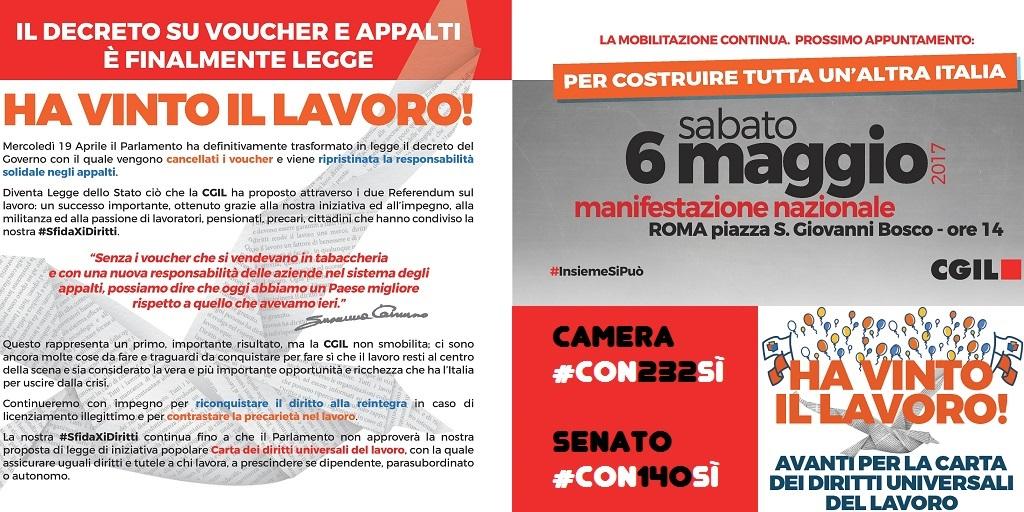 #SfidaXiDiritti il 6 maggio manifestazione nazionale a Roma