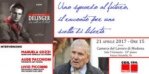"""presentazione libro partigiano """"Delinger"""", 21 aprile 2017"""