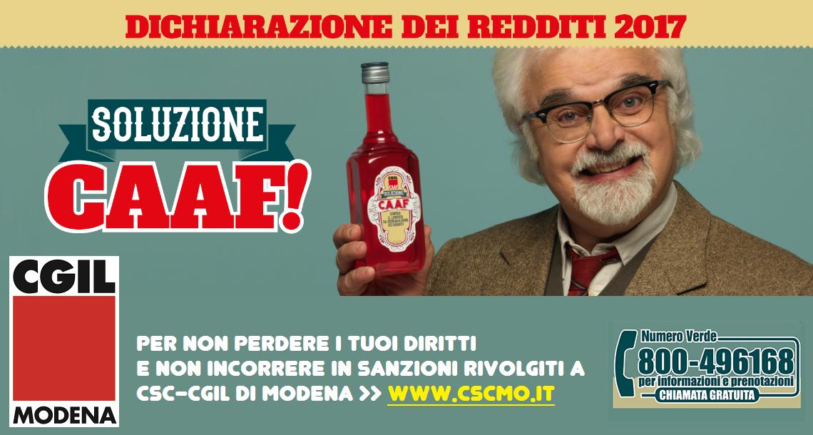 Csc-Cgil Modena - Dichiarazione redditi 2017