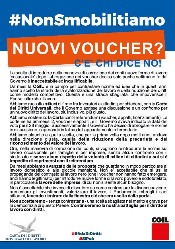 #nonsmobilitiamo, nuovi voucher c'è chi dice no!