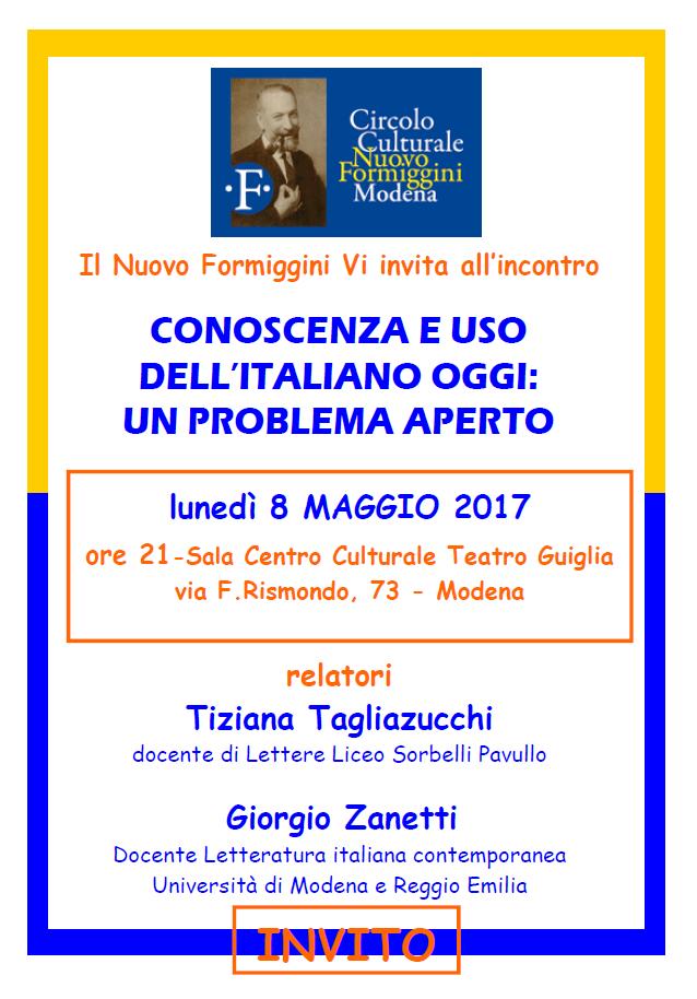 circolo Nuovo Formiggini uso italiano 8.5.17