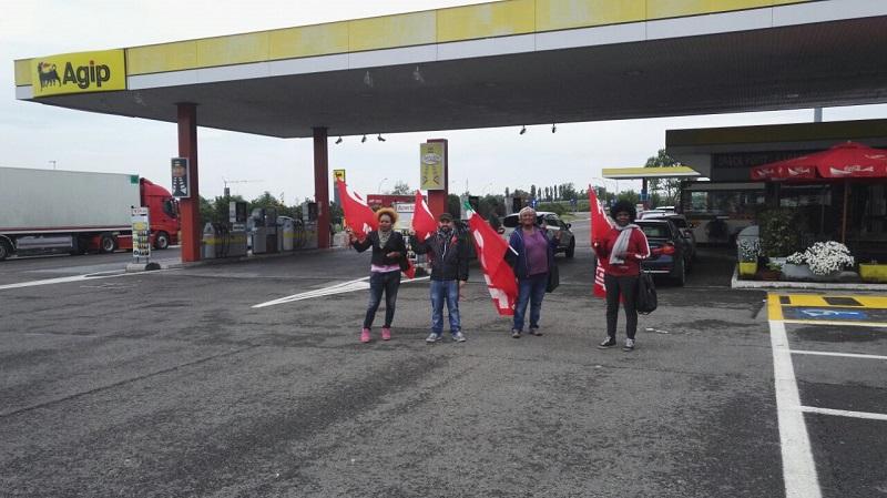 presidio area servizio Campogalliano Est lavoratori pulizie, 8.5.17