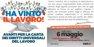 Manifestazione 6 maggio 2017 per carta dei diritti universali del lavoro