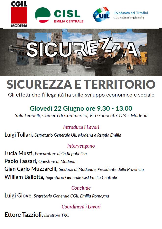 Sicurezza e territorio, 22.6.17 Modena