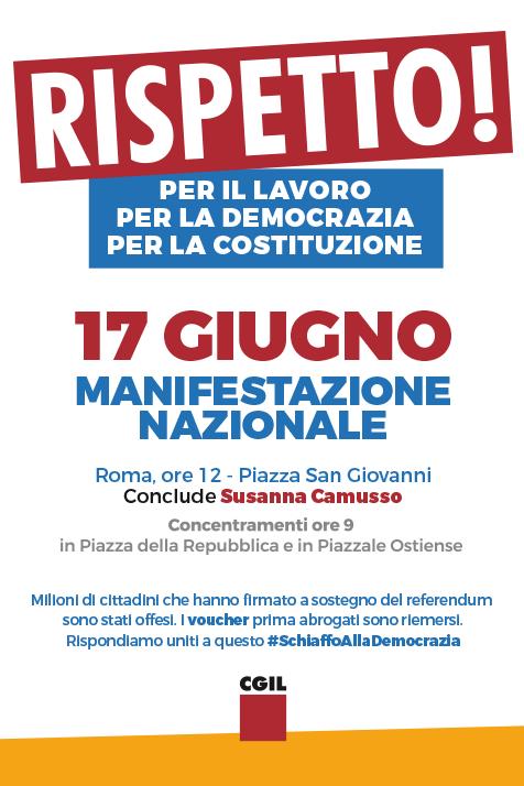 manifestazione 17 giugno e appello #schiaffodemocrazia