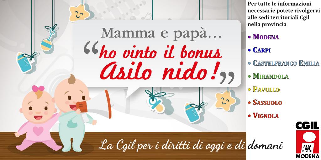 Asilo Nido 2017 - Area diritti Cgil Modena