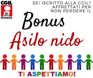 Modena cgil modena for Bonus asilo nido 2019 requisiti