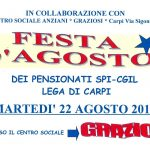 Lega Spi Cgil Carpi - festa d'agosto 2017