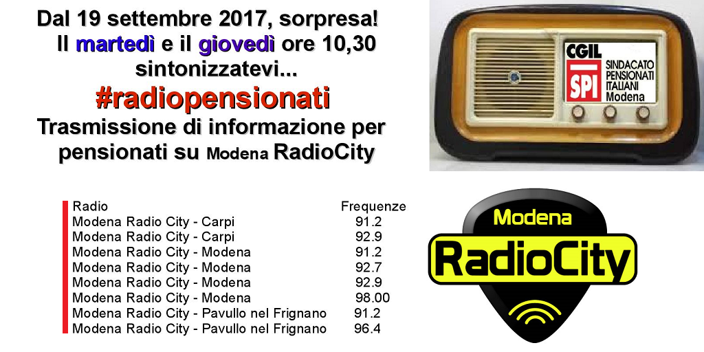 radiopensionati su Modena Radio City