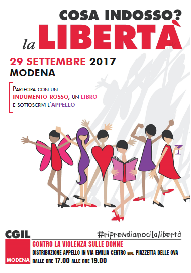 29.9.17 manifestazione contro violenza donne Modena