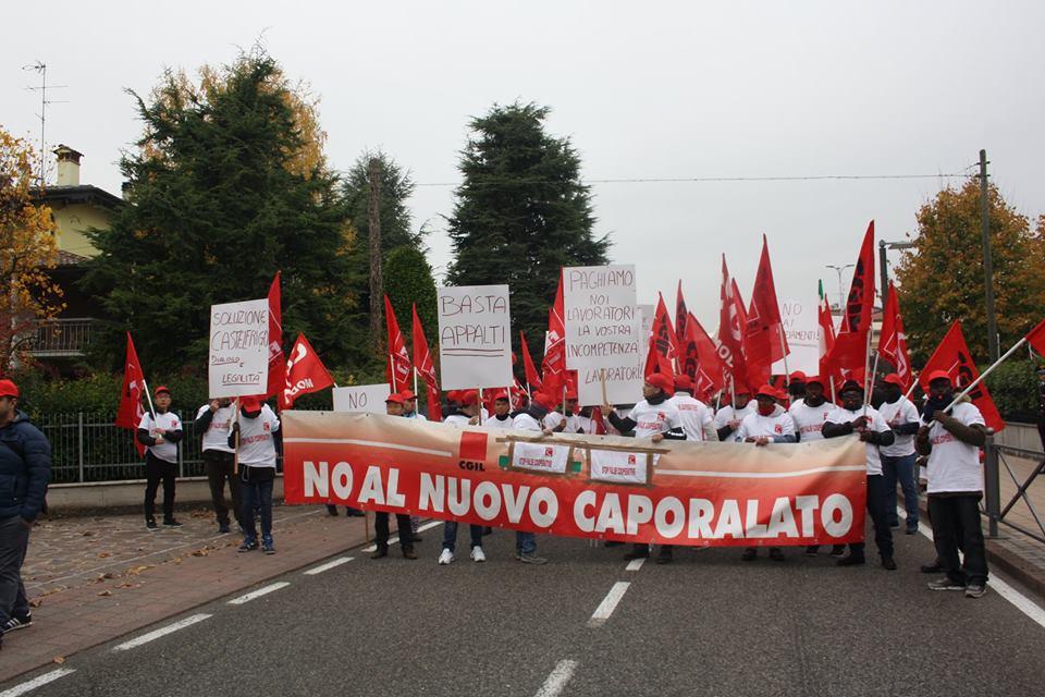 Sciopero Castelfrigo e manifestazione a Castelnuovo Rangone - 30/10/2017