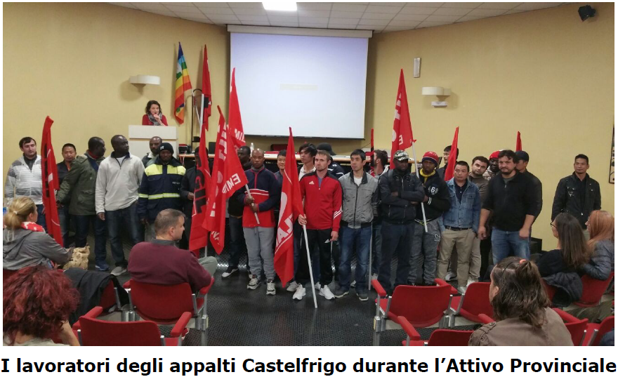 Odg in solidarietà lavoratori del sito Castelfrigo - Attivo Flai Modena - 18/10/2017