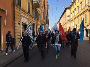manifestazione lavoratori Seta, 16.10.17