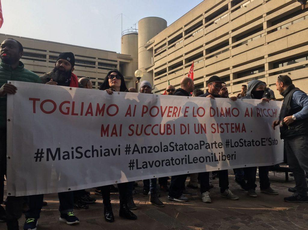 presidio regionale per sciopero rinnovo ccnl logistica, trasporti merci e spedizizione, 30.10.17