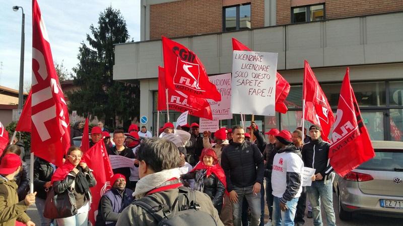 presidio c/o Ispettorato Lavoro lavoratori Castelfrigo, 31.10.17
