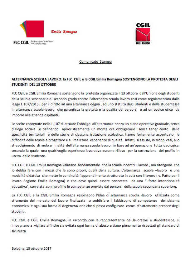 alternanza scuola-lavoro protesta Udu 13.10