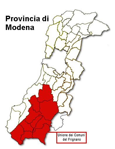 Provincia di Modena - Unioni comuni del Frignano