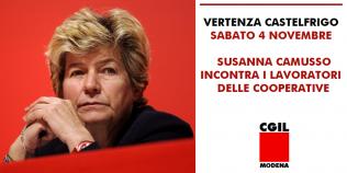 Susanna Camusso incontra lavoratori appalti Castelfrigo - 4/11/2017