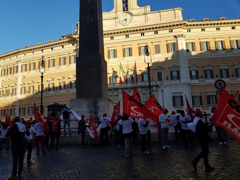 castelfrigo, manifestazione Montecitorio, 27.11.17