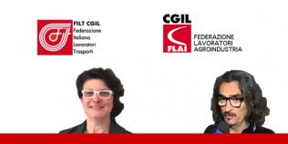 Giulia Grandi Filt e Uber Franciosi Flai (Cgil ER)