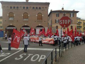 corteo Castelfrigo centro Castelnuovo, 30.10.17