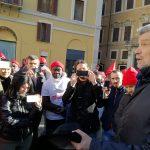 castelfrigo, presidio Montecitorio, 27.11.17