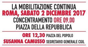 Pensioni, i conti non tornano - Manifestazione Cgil a Roma - 2 dicembre 2017