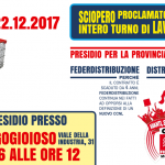 sciopero_federdistribuzione_distribuzione cooperativa 22.12.17