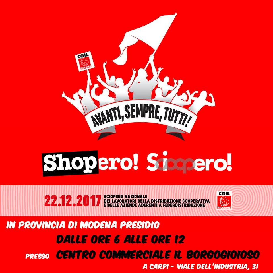 sciopero distribuzione cooperativa e federdistribuzione - 22 dicembre 2017