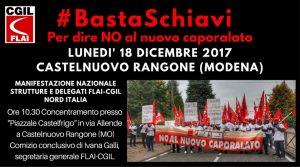 castelfrigo #basta schiavi 18.12.17