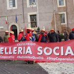 castelfrigo, macelleria sociale, striscione per manifestazione 2.12.17