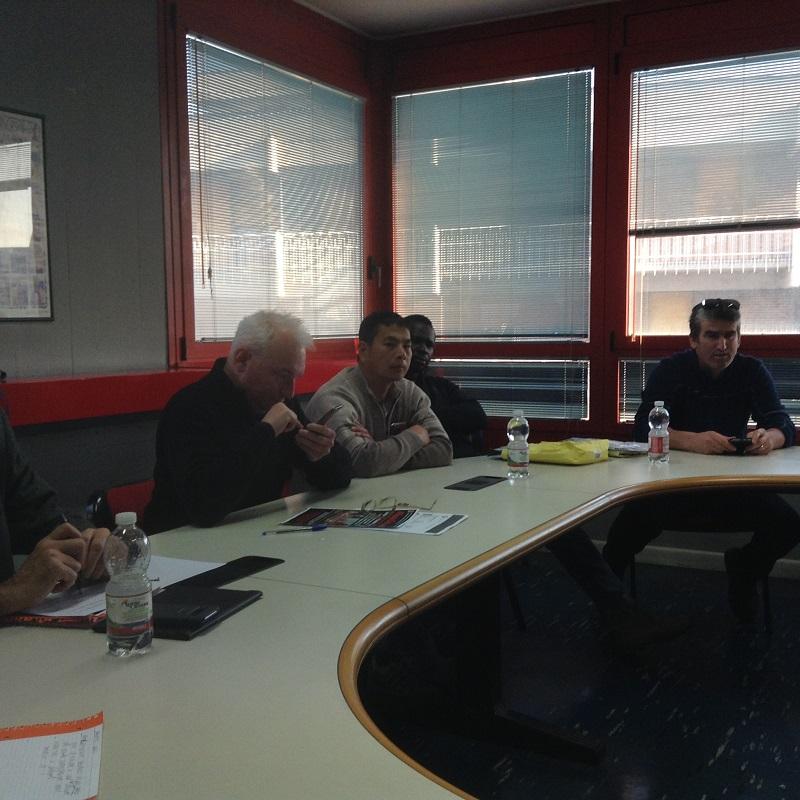 conferenza stampa vertenza Castelfrigo, 13.12.17