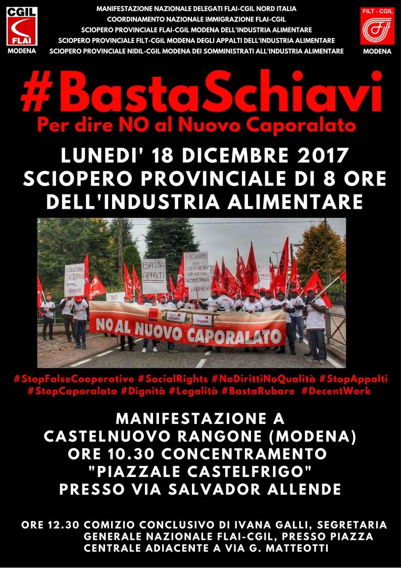 #bastaschiavi VOLANTINO 18.12.17 sciopero+manifestazione Castelnuovo