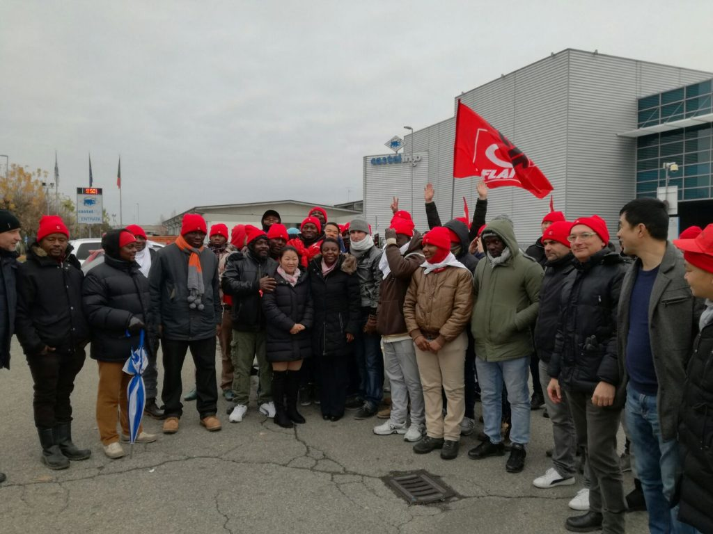 Cecile Kienge solidarietà lavoratori Castelfrigo, 1.12.17