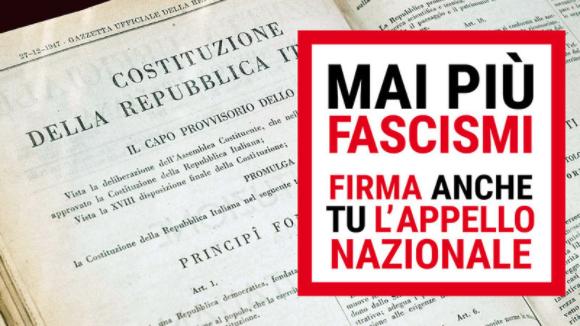 Mai più fascismi. Firma anche tu l'appello nazionale